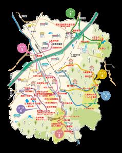 交野市ウォーキングマップ